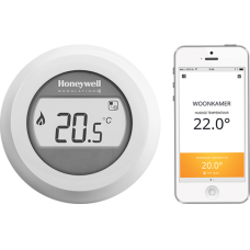 HONEYWELL THERMOSTAT ROUND CONNECTED  SANS FIL TOUT/RIEN