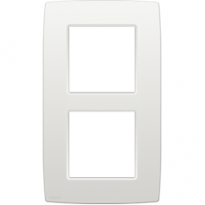 NIK00 PLAQUE DOUBLE VERT WHITE