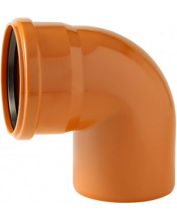 PVC ORANGE POUR EGOUT COUDE 90° Ø 125 MF
