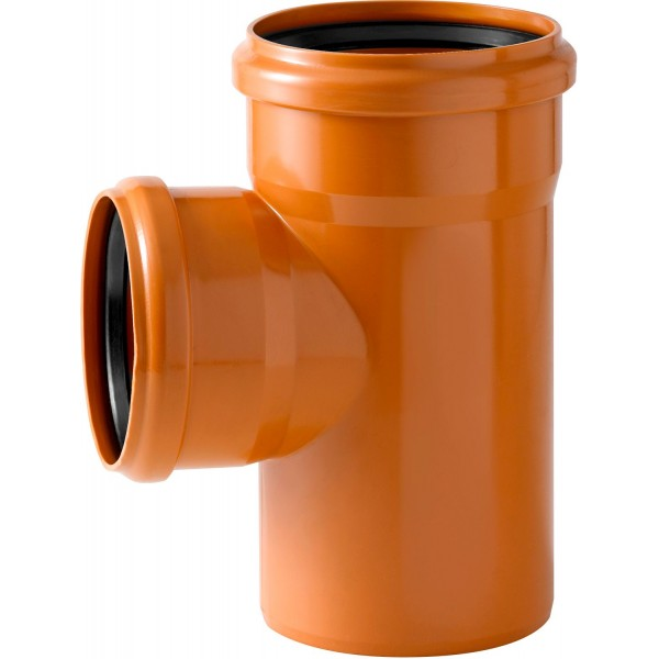 PVC ORANGE POUR EGOUT TE 90° Ø 110 MF